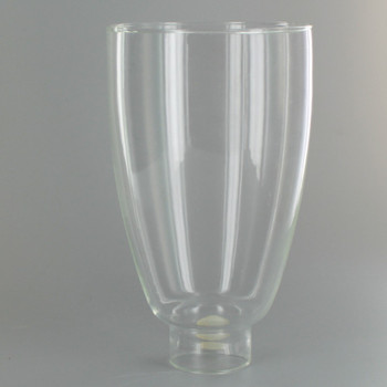 Clear Glass Williamsburg Style Glass with 1-5/8in. Neck