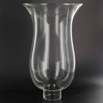 8in. Clear Bell Hurricane with 1-5/8in. Neck