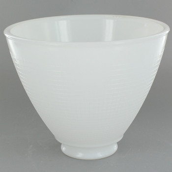 6in. Top IES Glass Shade with Waffle Pattern and 2-1/4in. Neck