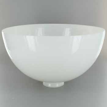 10in. Top Hand Blown IES Opal Glass Shade with 2-1/4in. Neck - USA
