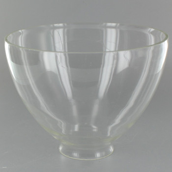 6in. Top Hand Blown IES Clear Glass Shade with 2-1/4in. Neck - USA