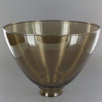 8in. Top Hand Blown IES Smoked Glass Shade with 2-1/4in. Neck