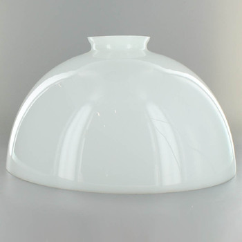 10in. Top Hand Blown IES Opal Glass Shade with 3in. Neck - USA