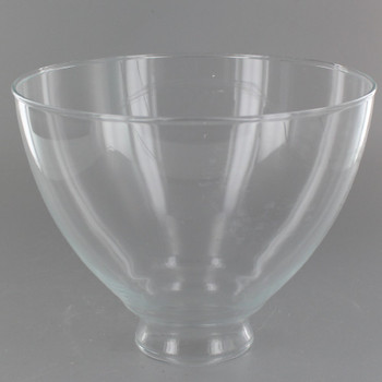 6in. Top Hand Blown IES Clear Glass Shade with 2-1/4in. Neck