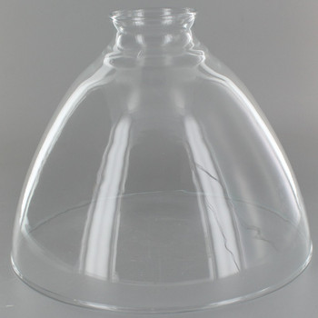8in. Top Hand Blown IES Clear Glass Shade with 2-1/4in. Neck