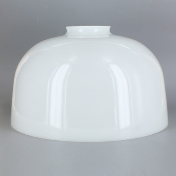 10in. Top Hand Blown IES Opal Glass Shade with 2-5/8in. Neck - USA