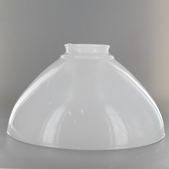 10in. Top Hand Blown IES Opal Glass Shade with 3in. Neck