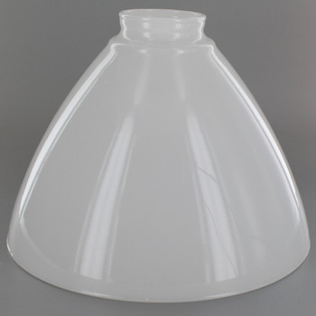 8in. Top Hand Blown IES Opal Glass Shade with 2-1/4in. Neck
