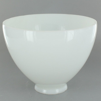 8in. Top Hand Blown IES Opal Glass Shade with 2-1/4in. Neck - USA