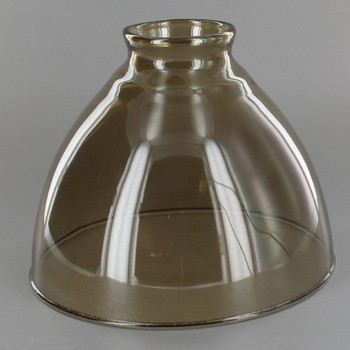 6in. Top Hand Blown IES Smoked Glass Shade with 2-1/4in. Neck