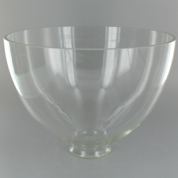 8in. Top Hand Blown IES Clear Glass Shade with 2-1/4in. Neck - USA