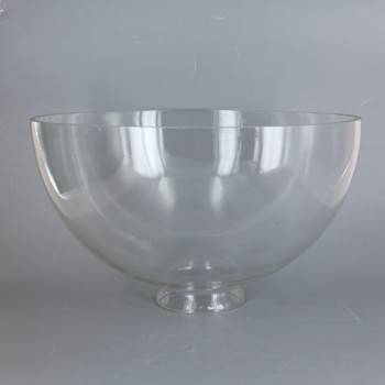 10in. Top Hand Blown IES Clear Glass Shade with 3in. Neck