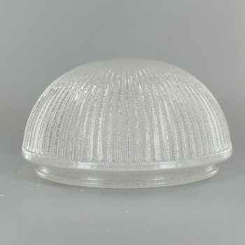 Ice Crystal Ribbed Flush Glass Shade with 6in. Neck