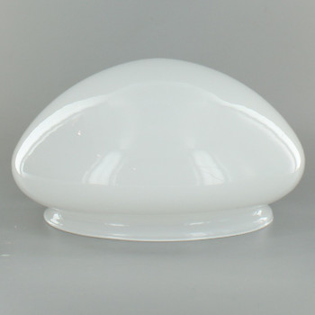7-1/2in. White Glass Mushroom Shade with 8in. Neck