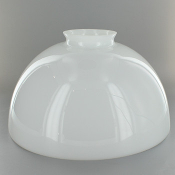 10in.Top Cased Green Glass Shade with 3in. Neck