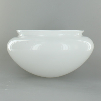 7-1/2in. White Glass Mushroom Shade with 5-1/2in. Neck