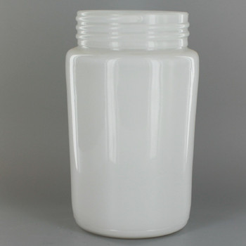 6in. Screw-In White Painted Glass with 3in. Threaded Neck