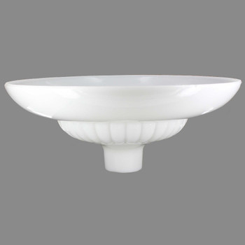 16in. Opal White Starburst Torchiere with 2-3/4in. Neck