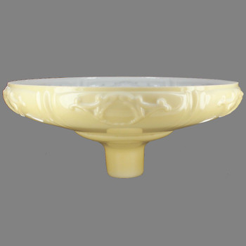 16-1/4in. Buff Color with Embossed Roses Design Torchiere Shade with 2-3/4in. Neck