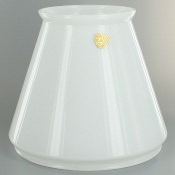 Cased White Tapered Student Shade with 6-7/8in. Neck