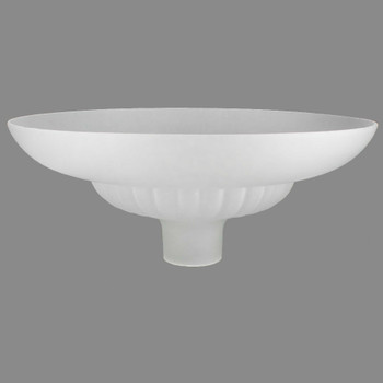 16in. Frosted Starburst Torchiere with 2-3/4in. Neck