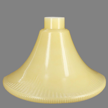 14in. Buff Colored Torchiere Shade with 2-5/8in. Neck
