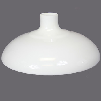15-3/4in. Opal White Plain Bell Torchiere Shade with 2-3/4in. Neck