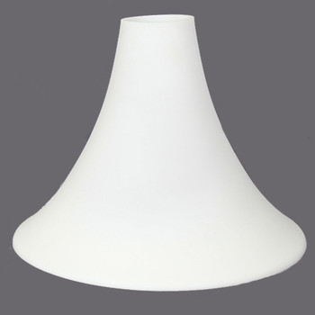 Frosted Opal White Glass Trumpet Style Torchiere Shade with 3-1/4in. Neck