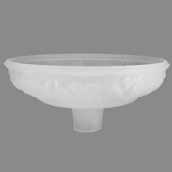14-1/2in. Frosted with Embossed Flower Torchiere Shade with 2-3/4in. Neck