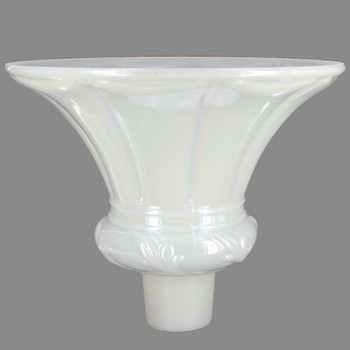 Pearl Tall Flared Torchiere Shade with 2-3/4in. Neck