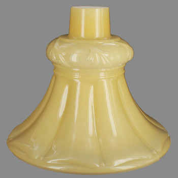 Buff Color Tall Flared Torchiere Shade with 2-3/4in. Neck