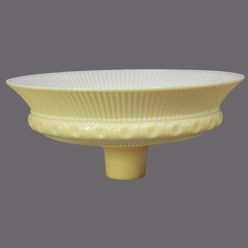16in. Buff Color Ribbed Victorian Torchiere Shade with 2-3/4in. Neck