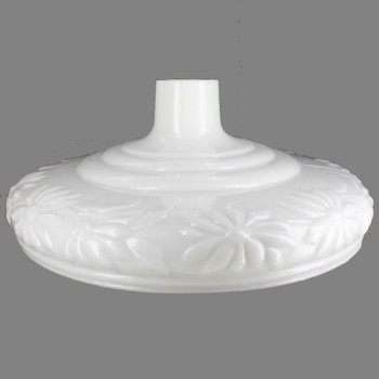 Opal White Daisy Pattern Torchiere Shade with 2-3/4in. Neck
