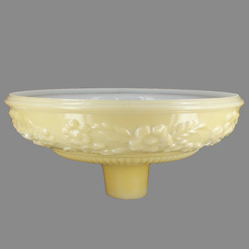 14-1/2in. Buff Color with Embossed Flower Torchiere Shade with 2-3/4in. Neck