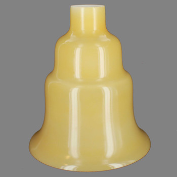Buff Color Plain Tall Flared Torchiere Shade with 2-3/4in Neck