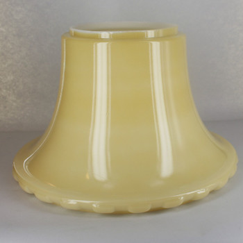 12in. Buff Color Parlor Style Box Trim Torchiere Shade with 5-1/2in. Neck