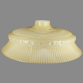 16in. Buff Color Ribbed Victorian Torchiere Shade with 2-3/4in. Wide Short Neck