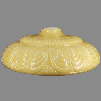 14-1/2in. Buff Color Draped Torchiere Shade with 2-3/4in. Wide Short Neck
