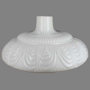14-1/2in. Opal White Draped Torchiere Shade with 2-3/4in. Neck