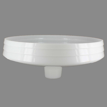 15-1/4in. Opal White Deco Torchiere Shade with 2-3/4in. Neck
