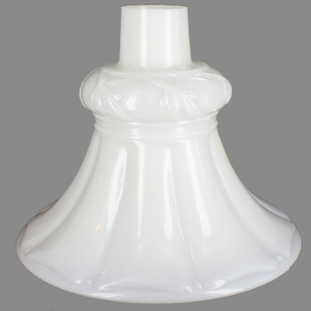 Opal White Tall Flared Torchiere Shade with 2-3/4in. Neck