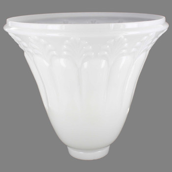 Opal White Fleur-De-Lis Torchiere Shade with 3-1/2in. Neck