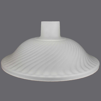 14-1/2in. Frosted Swirl Torchiere with 2-3/4in. Neck