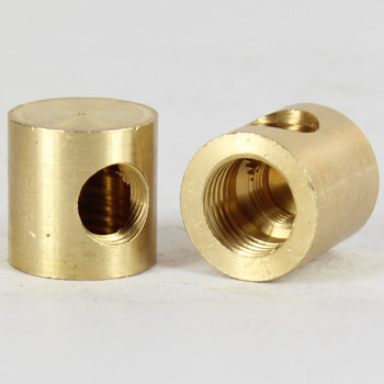 1/4ips X 1/8IPS Threaded - 3/4in Diameter 90 Degree Straight Armback - Unfinished Brass