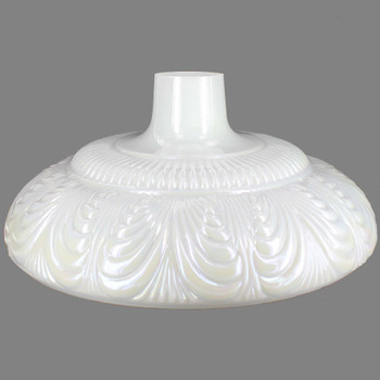 14-1/2in. Pearl Draped Torchiere Shade with 2-3/4in. Neck