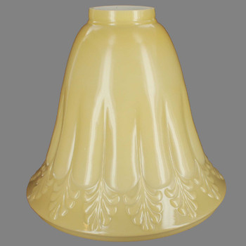 Buff Color Fleur-De-Lis Torchiere Shade with 3-1/2in. Neck
