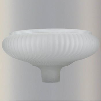 14in. Frosted Ribbed Swirl Torchiere Shade with 2-3/4in. Neck