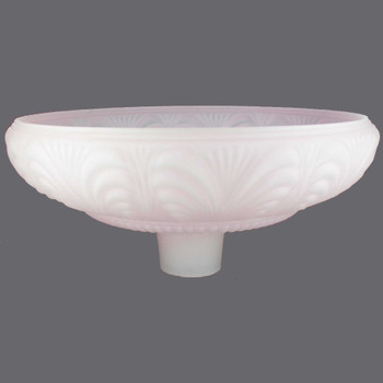 14-1/2in. Pink Frosted Draped Torchiere Shade with 2-3/4in. Neck