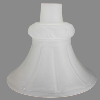 Frosted Tall Flared Torchiere Shade with 2-3/4in. Neck