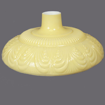 14-1/2in. Buff Color Draped Torchiere Shade with 2-3/4in. Neck